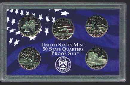 PROOF COINS SETS - Complete 50 state quarter set