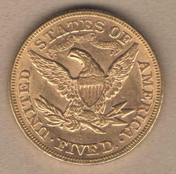 Old Liberty Coins 1880 $5 Liberty Gold Coin