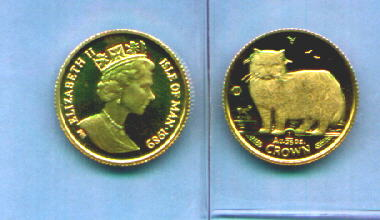 Cat Gold Coins And Genuine Silver Kitten Coins From The British Isle Of Man