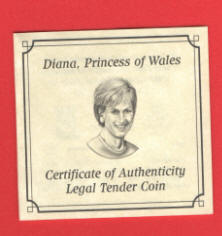 Princess Diana GOLD COINS from Niue in Mint Box