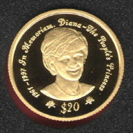 COA of Princess Diana GOLD COINS from Niue