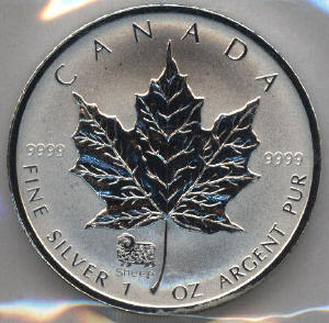 Canadian Silver Maple Leaf 1 Ounce 5 Coins And Old Silver