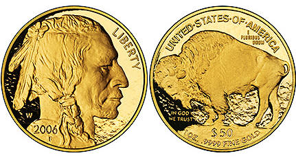 Proof Condition American Buffalo 1 Ounce Gold Coins