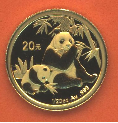 Newer Panda Bear Gold Chinese Coins Pure Gold Pandas