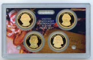 buy 2007s SET of 4 Presidential Dollars PROOF SET