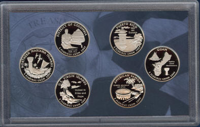 "2009 S /""Q09/"" DC /& TERRITORIES 6 COIN QUARTERS PROOF SET"