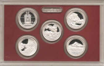 Holder with 2010 Silver National Parks Quarters proof set