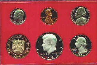 Us Proof Coins And Sets 1980 To 1989 And 1981 1982