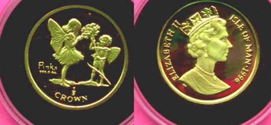 Flower Fairy Gold Coins Genuine Gold Coins Flowers