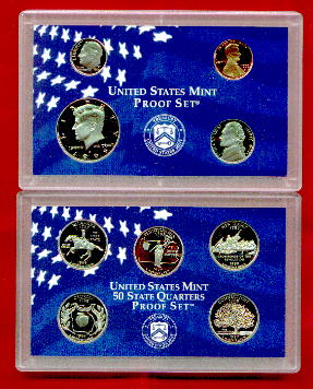 1990 to 1999 United States PROOF COINS Year Mint SETS