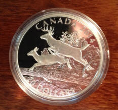 White Tailed deer coin - Buck and Doe mates