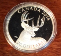 2014 White Tailed Deer in Canadian Mint capsule