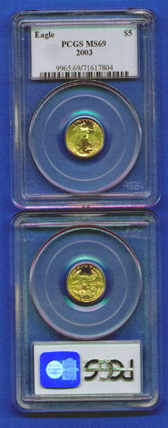 PCGS graded and certified American Eagle US gold coins