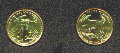 New US American Gold Eagle coins, United States Gold