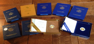 Assorted dates of US American Eagle Proof Gold coins for sale