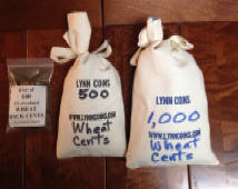 Small Wheat cent Rolls and Mini Bags