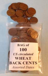 100 WHEAT CENTS FOR ONE LOW PRICE