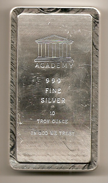 10 Ounce Silver Bars And Ingots Ten Troy Oz Size Buy