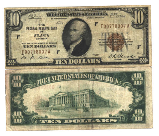 Us Paper Currency Bills