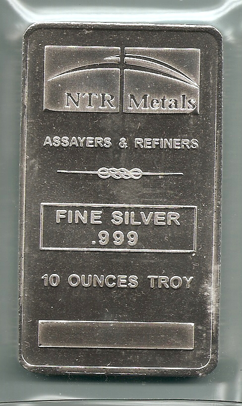 Ntr Metals 10 Ounce Silver Bars Solid 999 Pure Silver