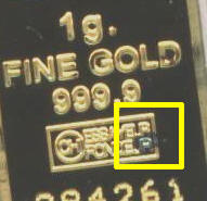 Rust Spotting on solid gold ingot bar - article