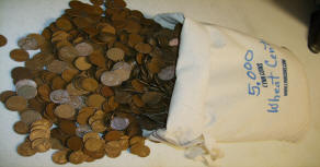 Bags of Wheat Cents - Wheat Pennies - Full Bags of Pre-1959